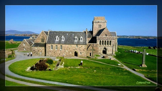 Iona Abbey Landscape